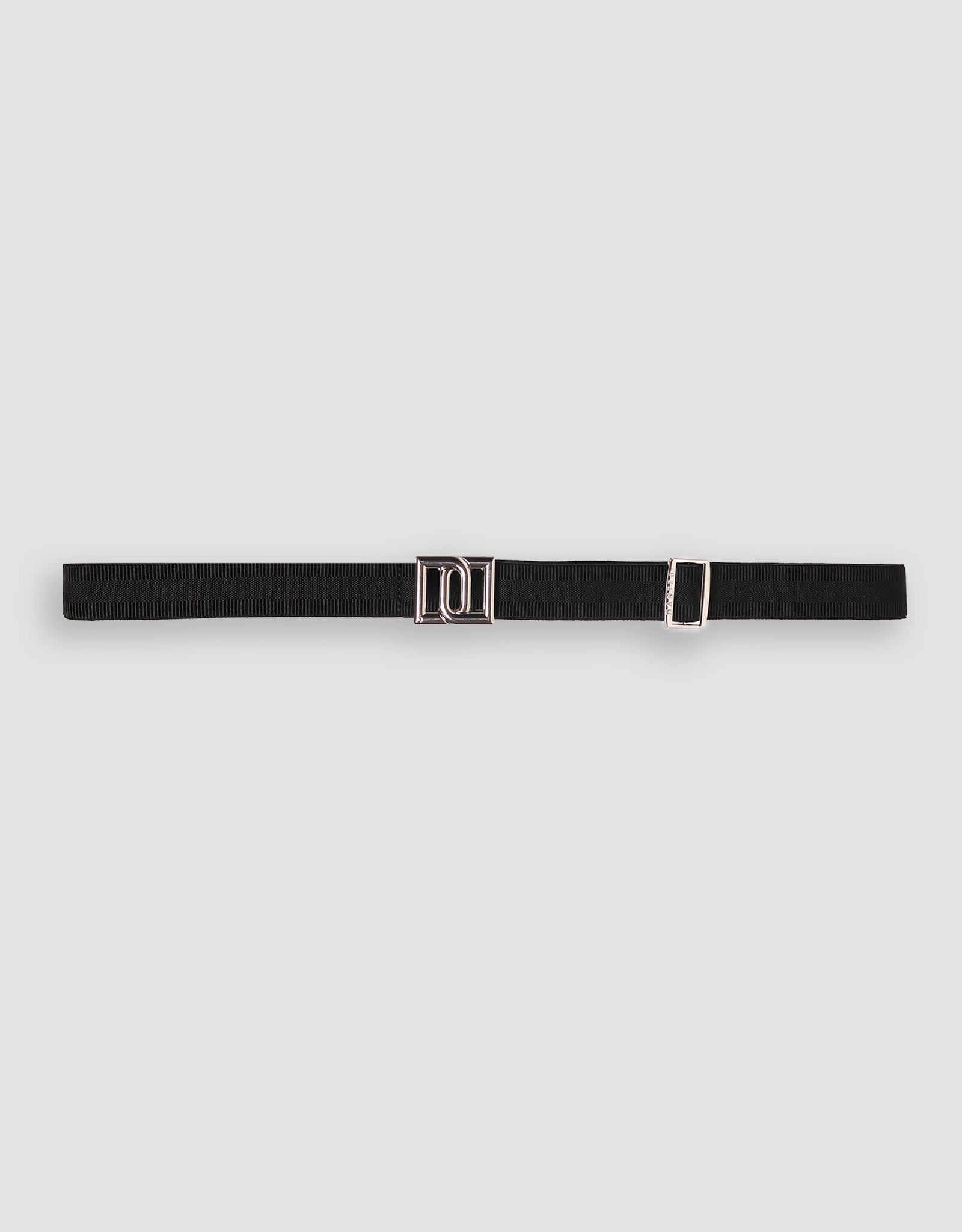 Dante 6 Monogram Petite Stripe Belt Raven Silver