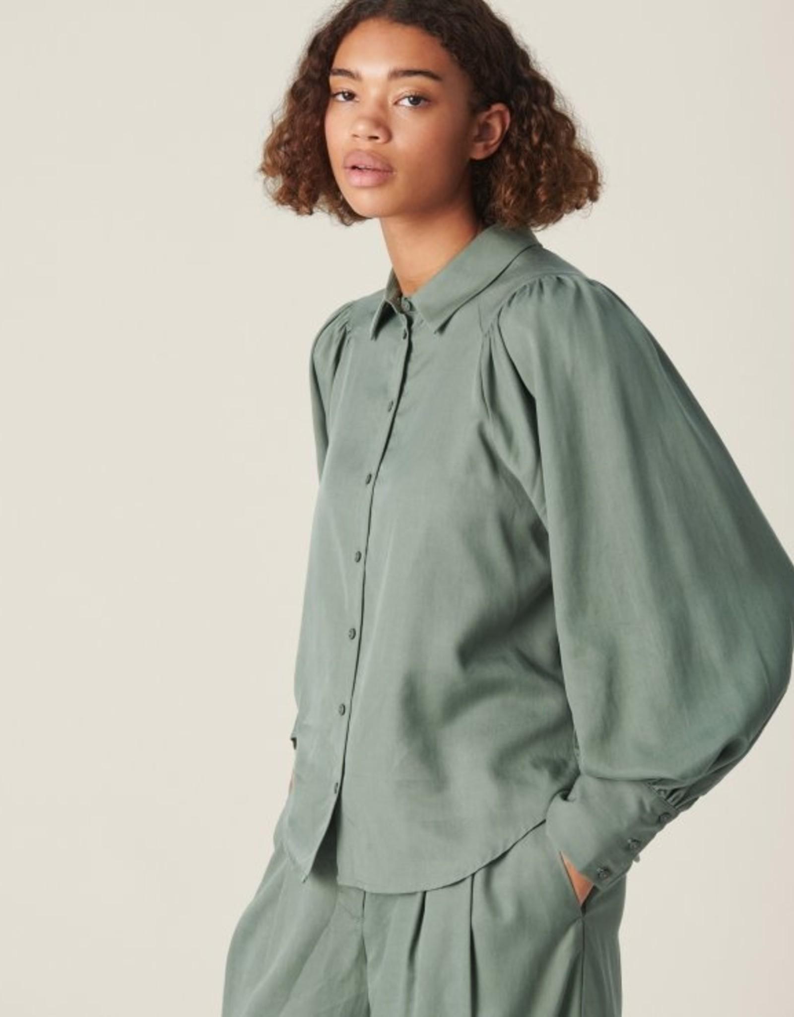 Moss Copenhagen Alivia Stephie LS Shirt Agave Green