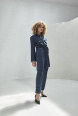 Homage Denim Overall With Frayed Edge Sparkle Night