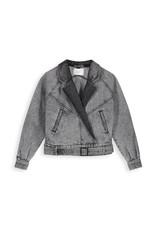 Homage Retro Denim Jacket Acid Light Grey