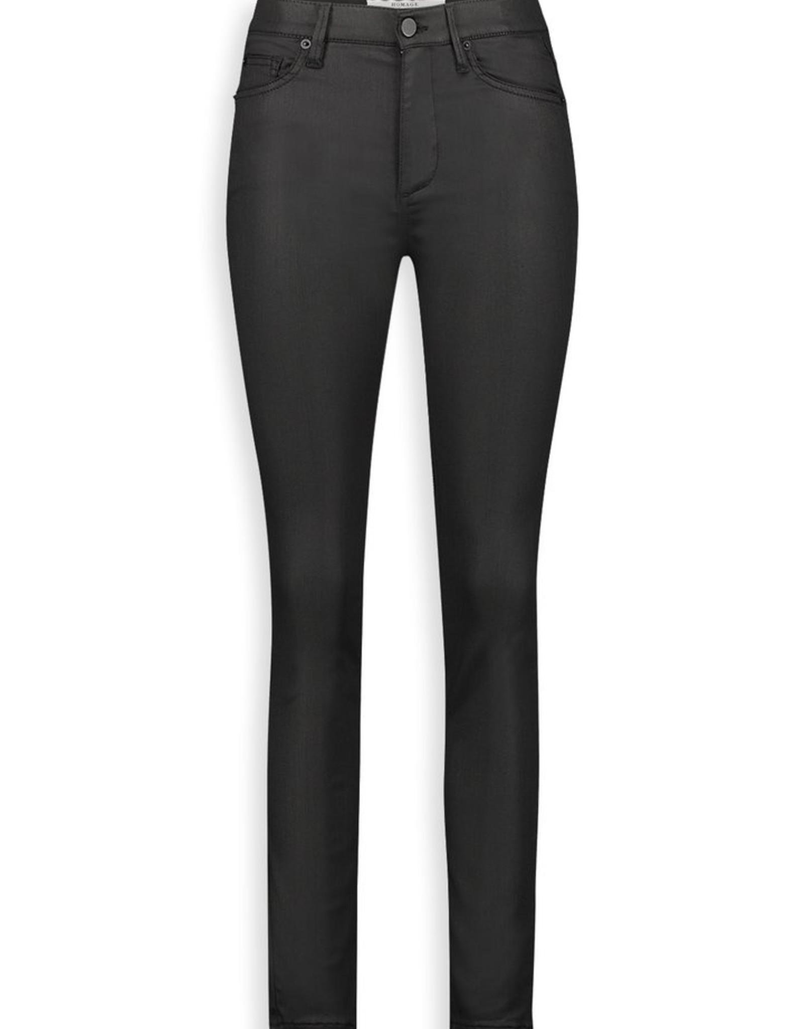 Homage Jagger Sateen Coated Skinny Jeans Eternal Black