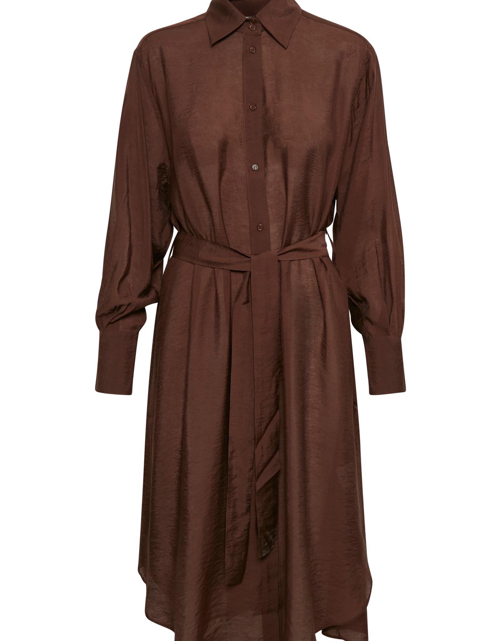 InWear Bogda Shirt Dress Coffee Brown