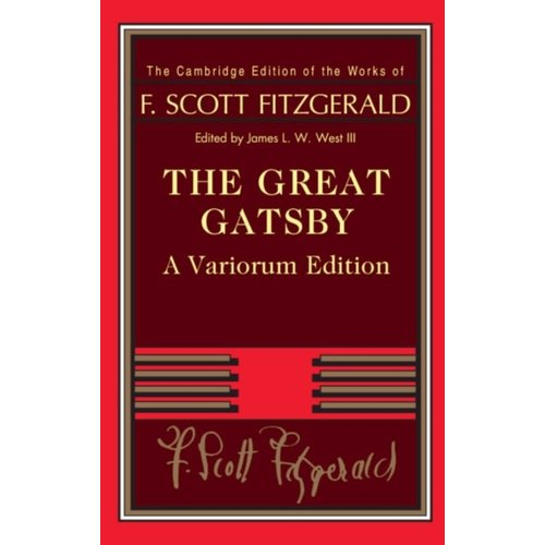 F. Scott Fitzgerald The Great Gatsby - Cambridge Edition
