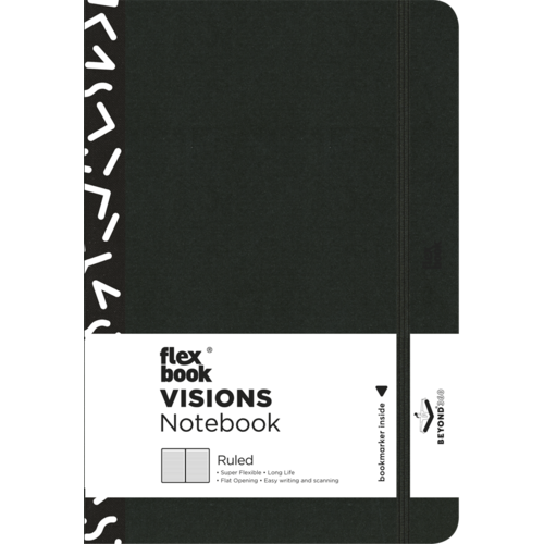 Flexbook Visions / Off-Black / Ruled / Medium