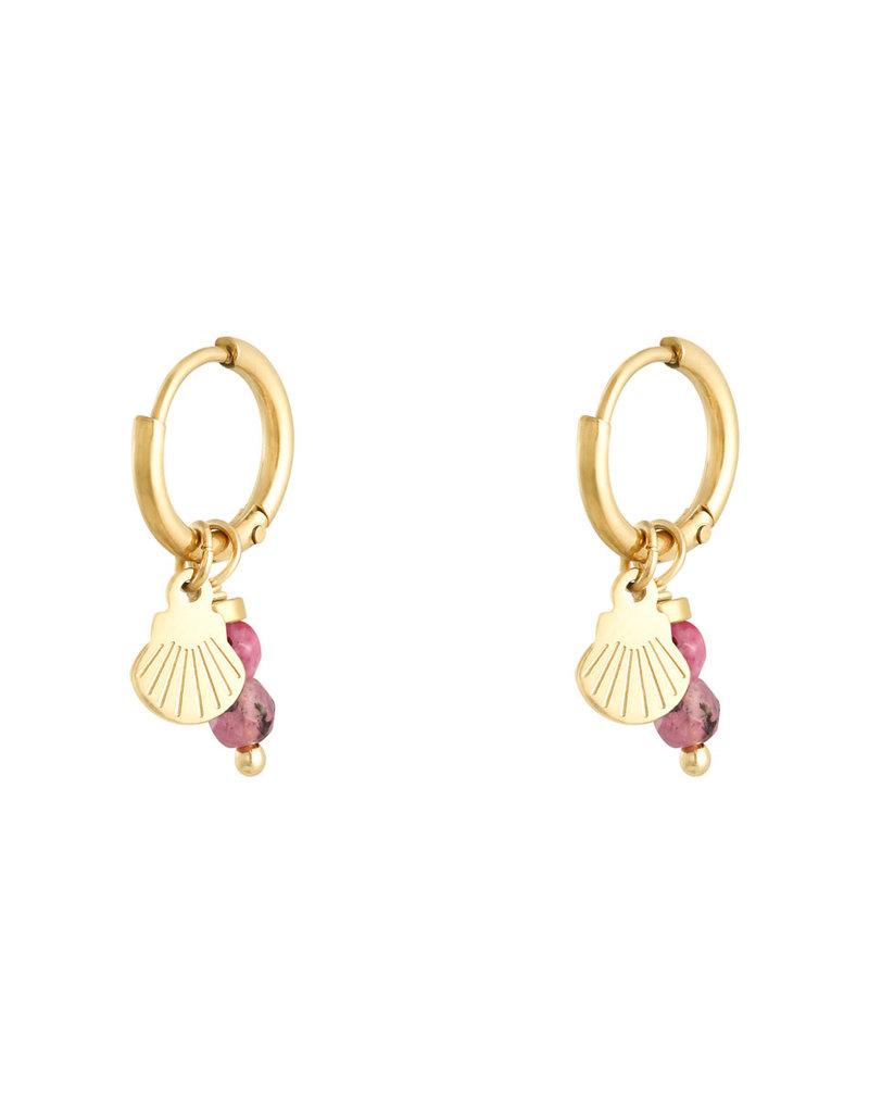 Earring little shell pink