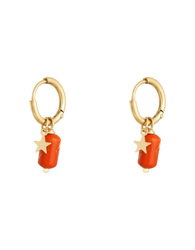 Earring  Candy orange