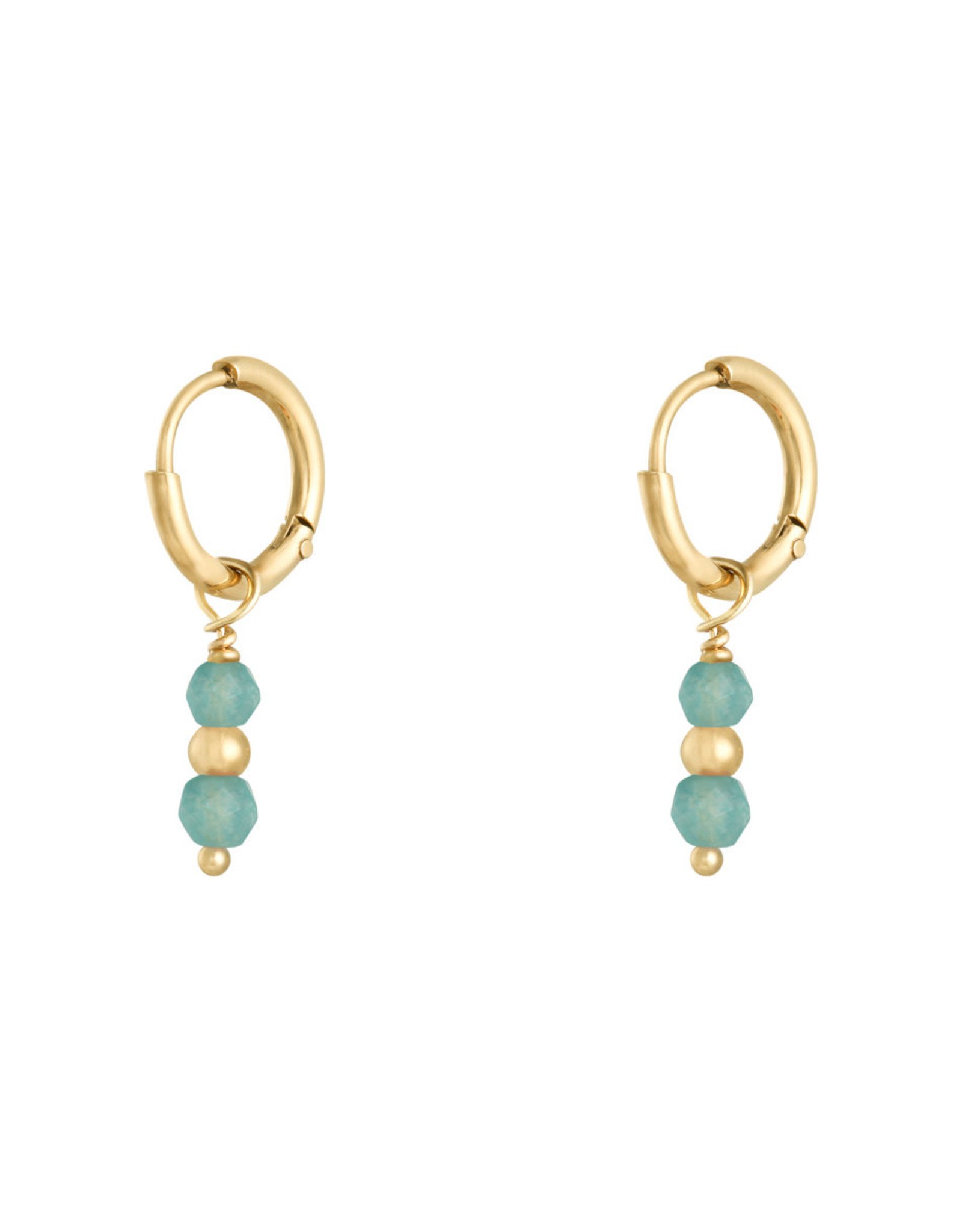 Earring pineapple blue