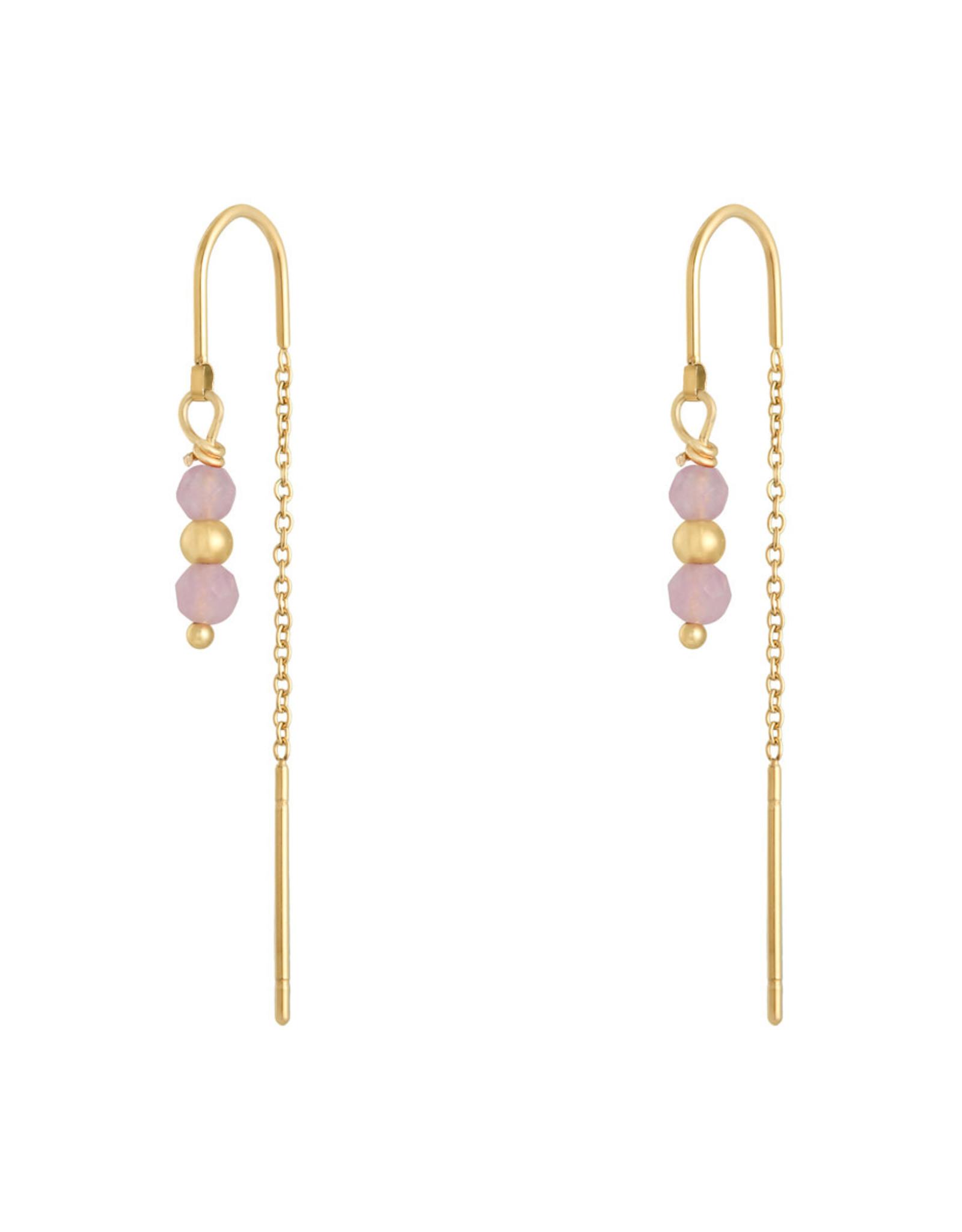 Earring argus pale pink