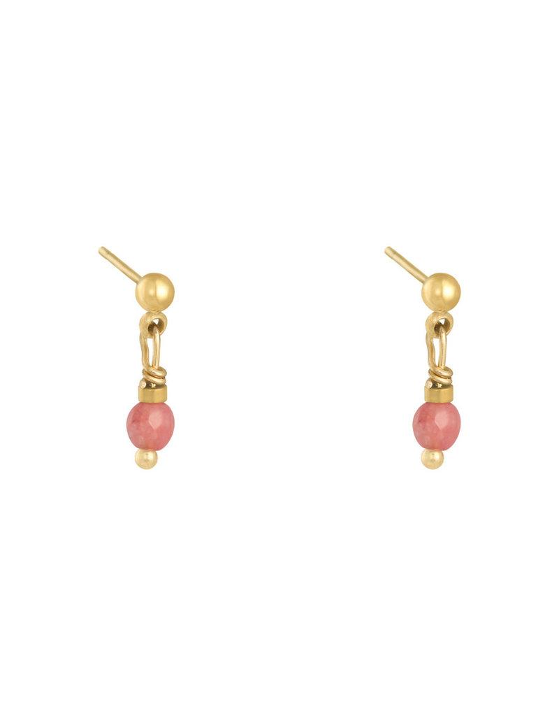 Earring peacock pink