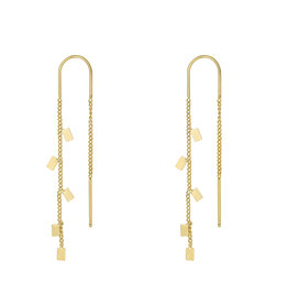 Earrings rectangle gold