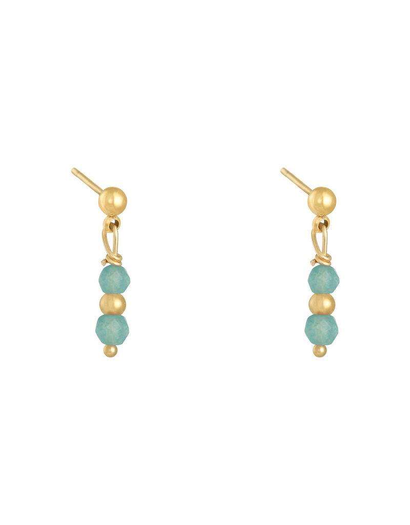 Earring in a row blue