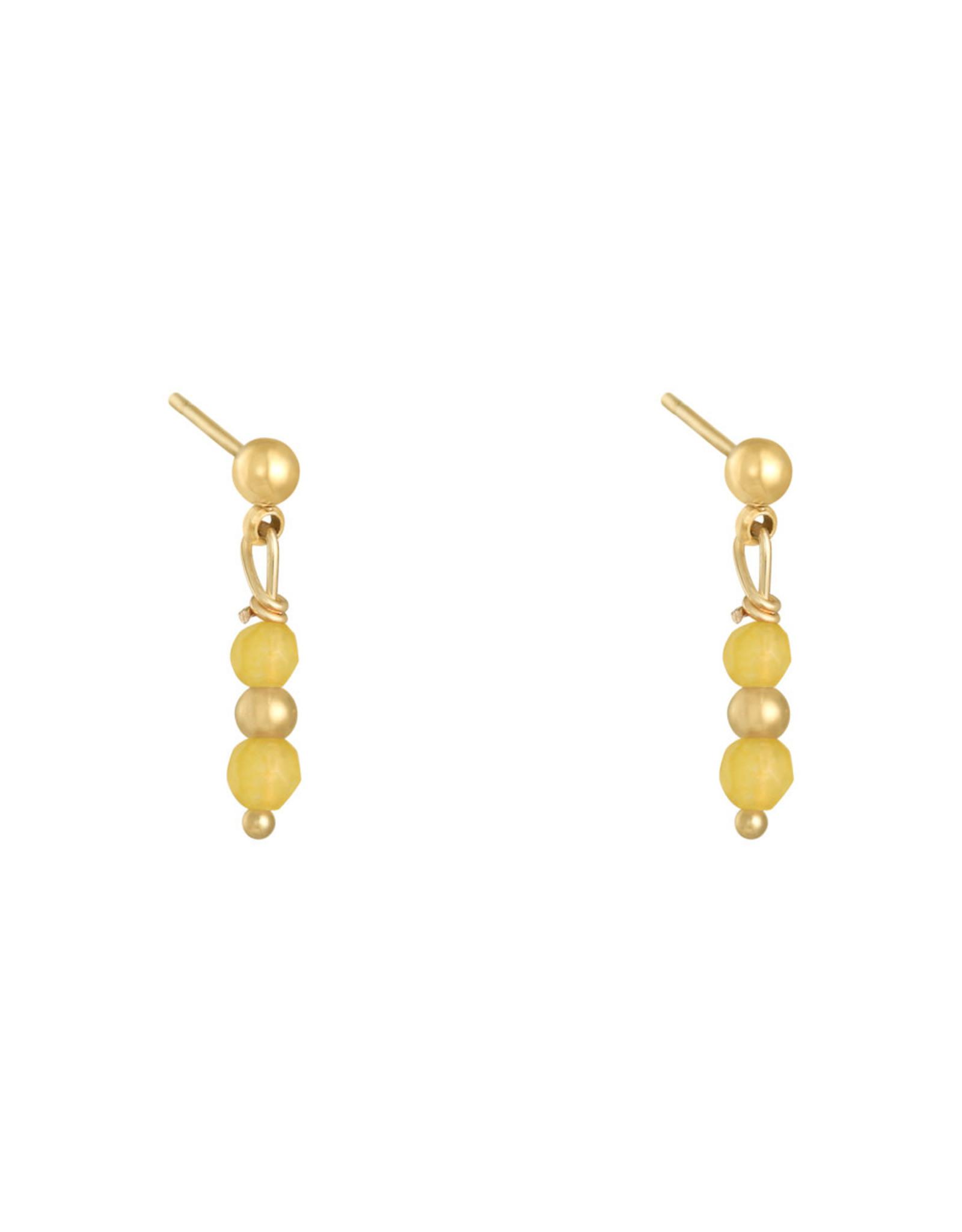 Earring in a row yellow