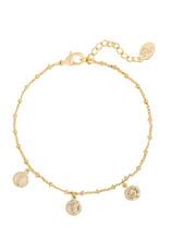 Bracelet cute coin gold