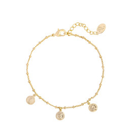 Bracelet cute coin gold
