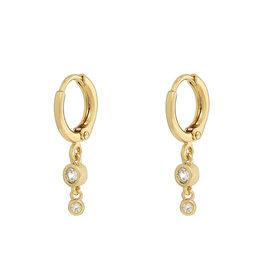 Earrings 2 zirconia's white gold