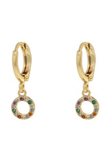 Earrings circle multi gold