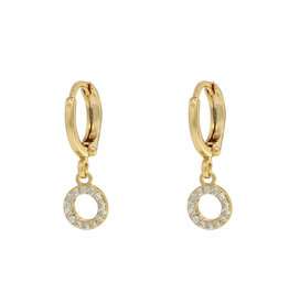 Earrings circle white gold