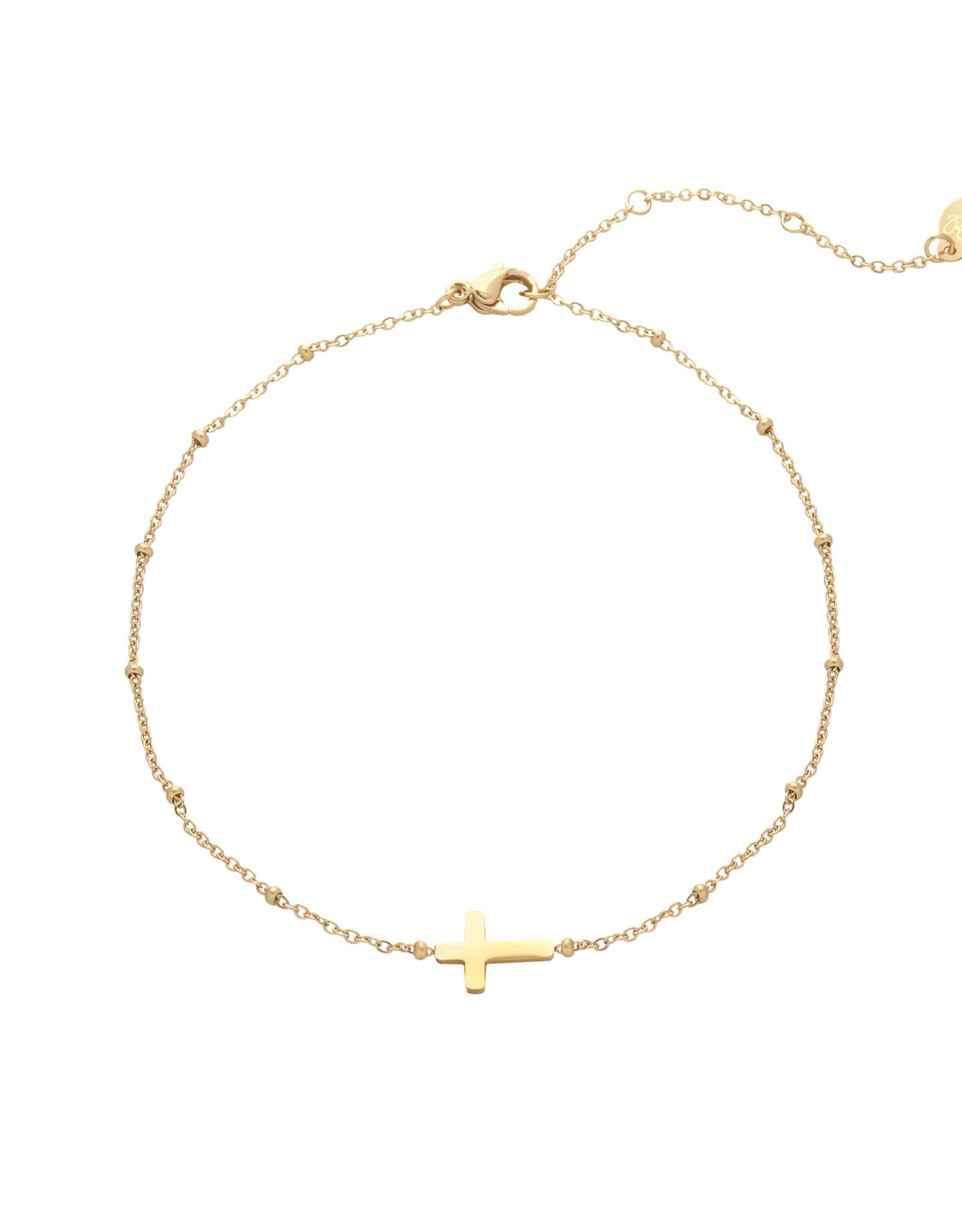 Bracelet cross gold