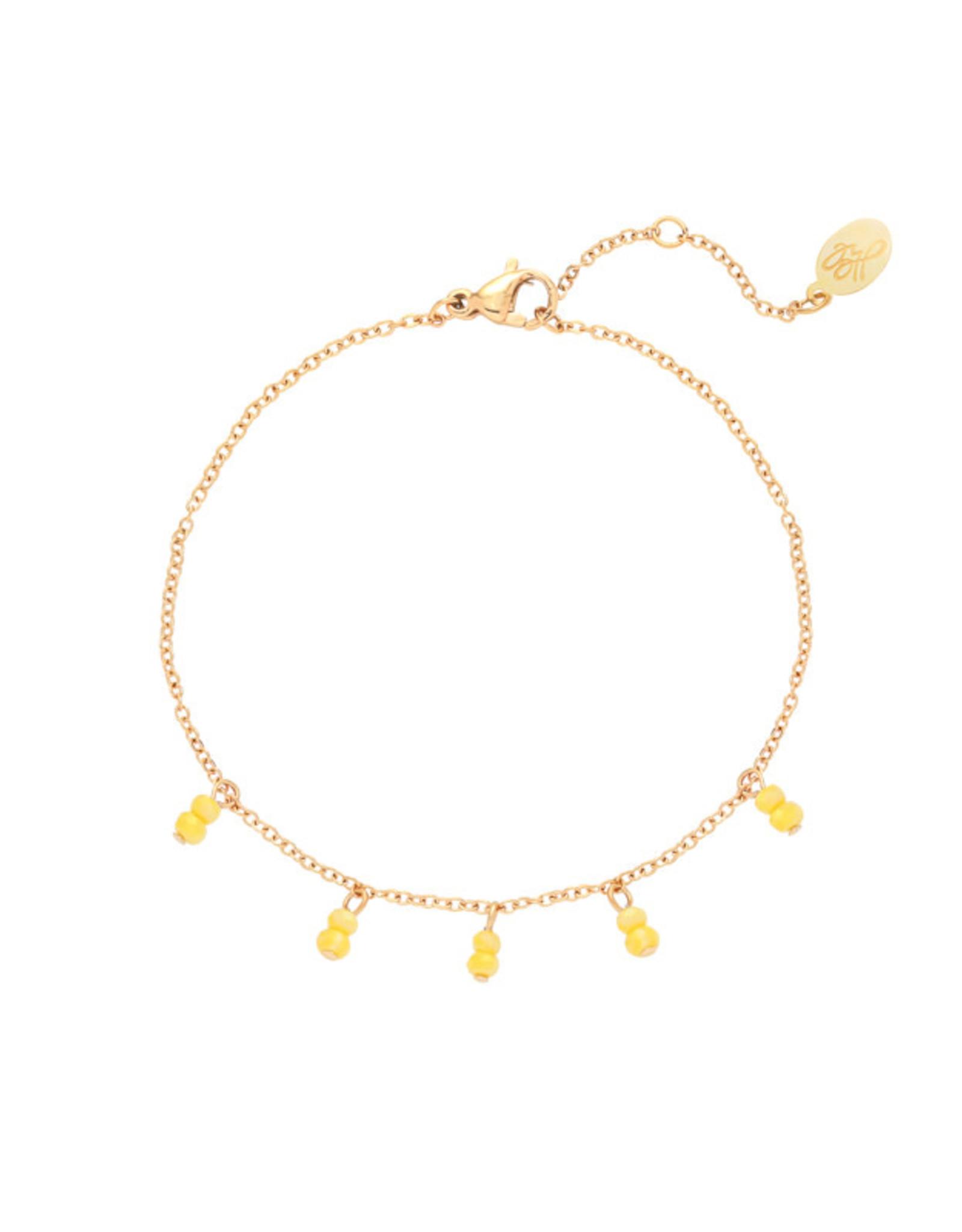 Bracelet yellow swirl gold