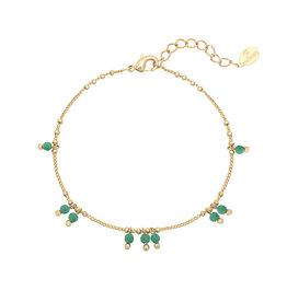 Bracelet green spring Stones gold