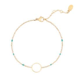 Bracelet circle of life gold green