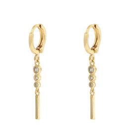 Earrings elegant Stones white gold