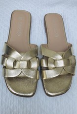 Sandalen plat goud