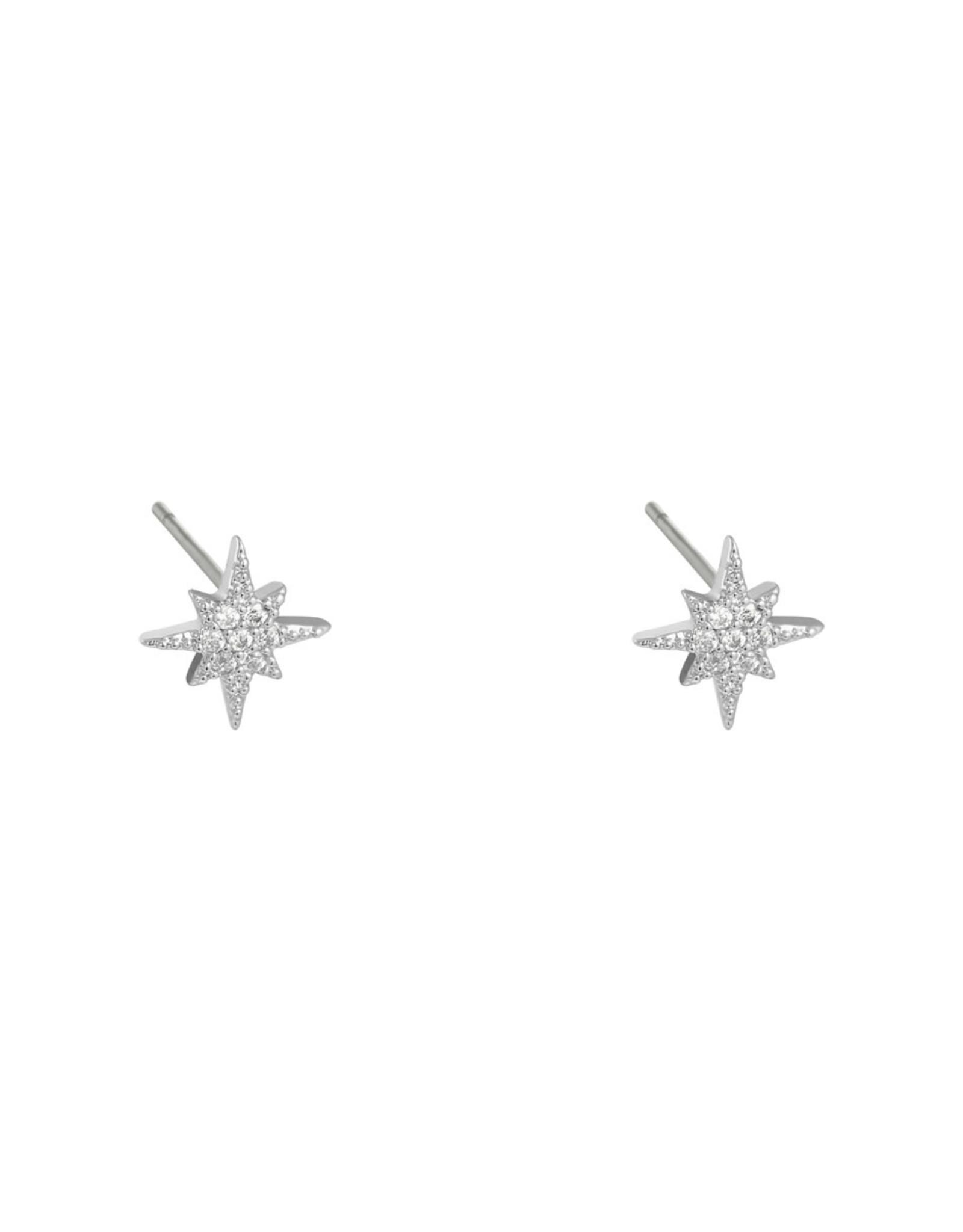 Earring star mini zilver