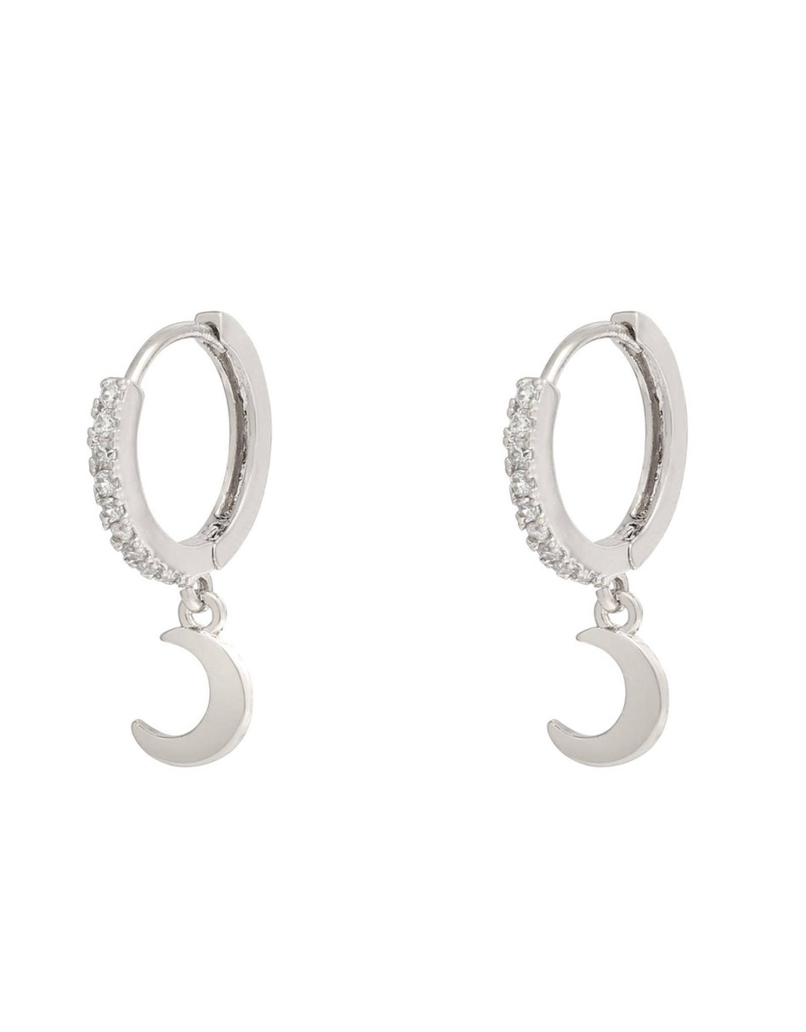 Earrings Shiny Moon zilver
