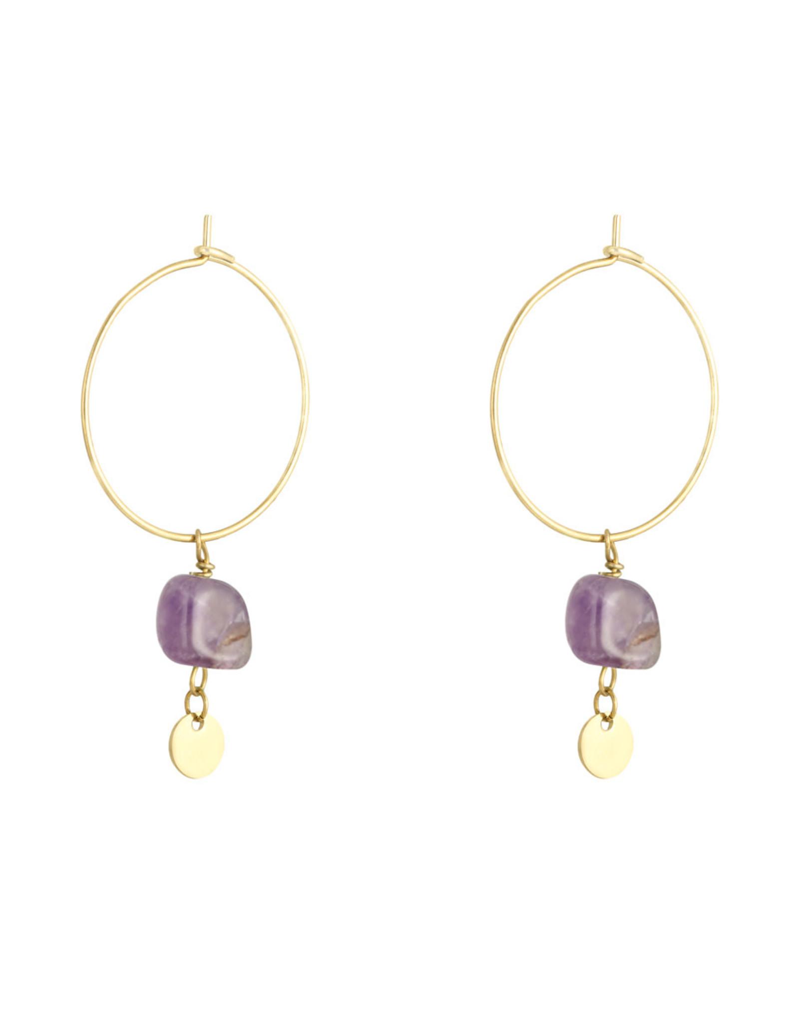 Earring proud purple