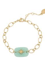 Bracelet Nature star green gold
