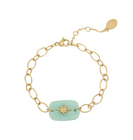 Bracelet Nature star green gold