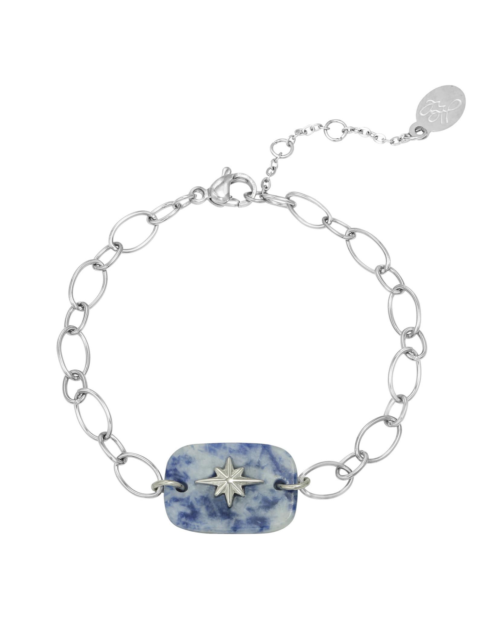 Bracelet Nature star blue silver