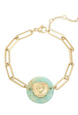 Bracelet Nature Heart green gold