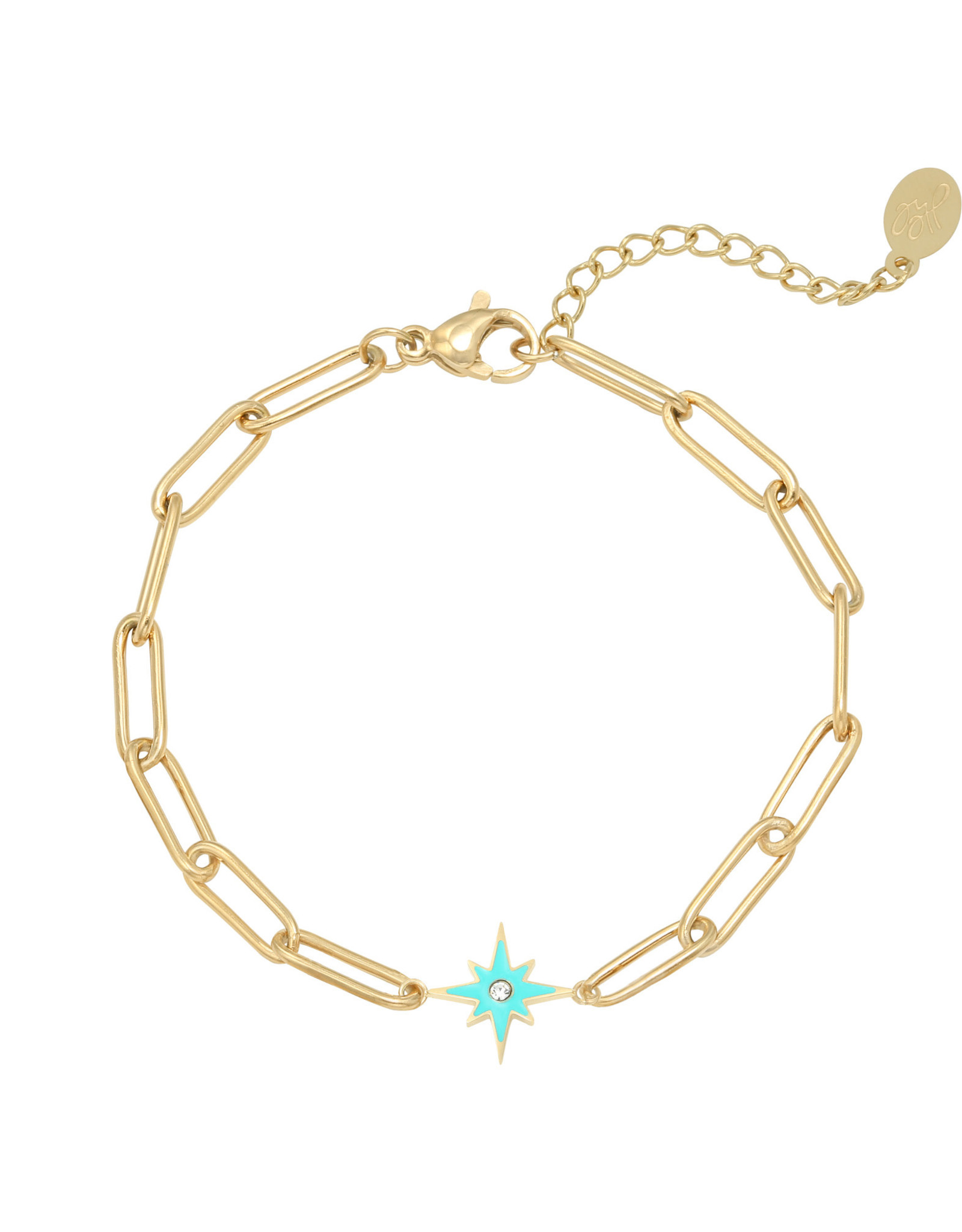 Bracelet shining star blue