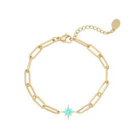 Bracelet shining star blue