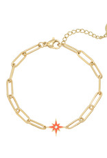 Bracelet shining star red
