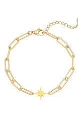 Bracelet shining star yellow