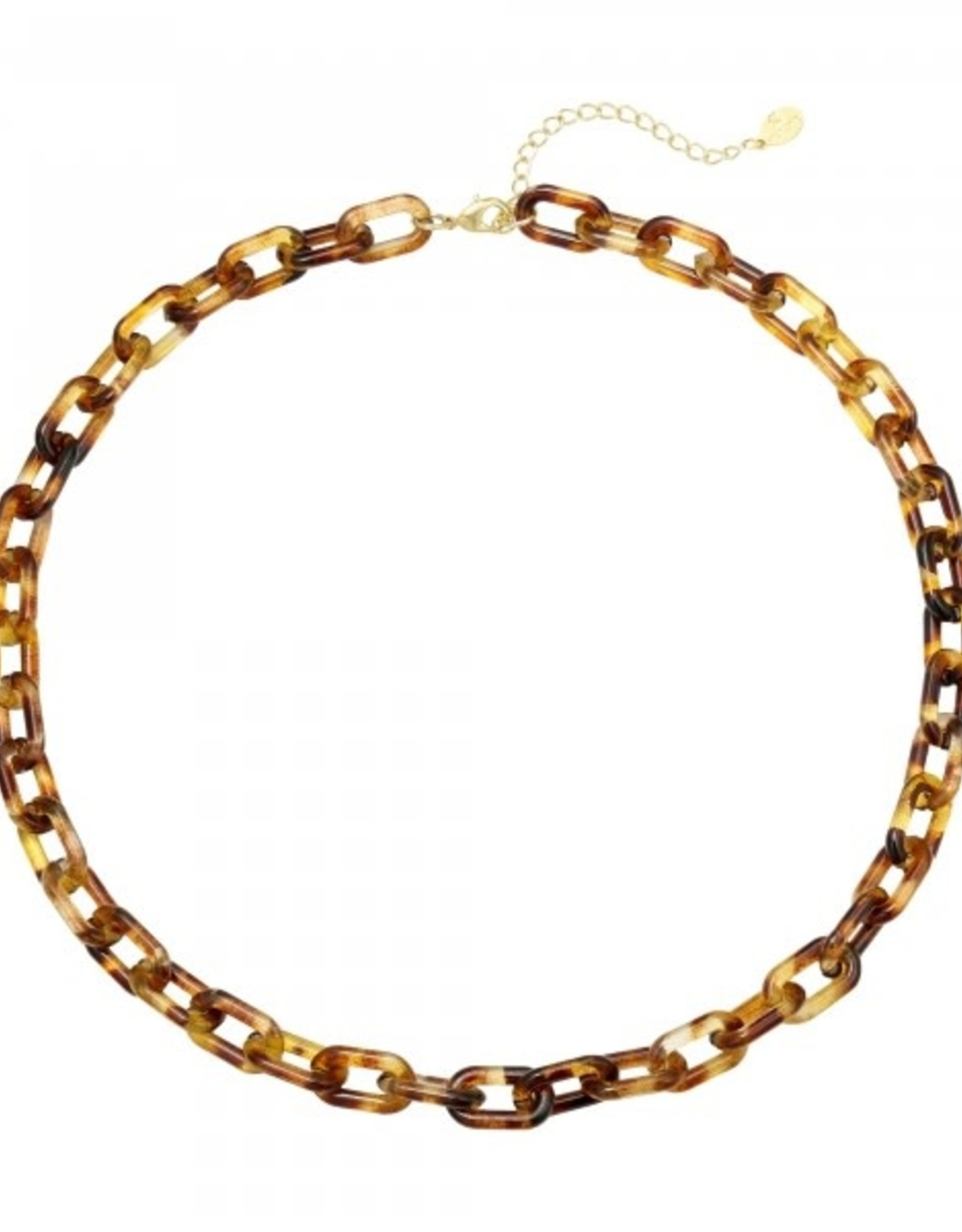 Necklace  chunky chain brown