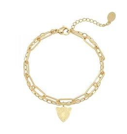 Bracelet double chain tiger gold