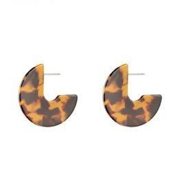 Earrings hooked camel/brown