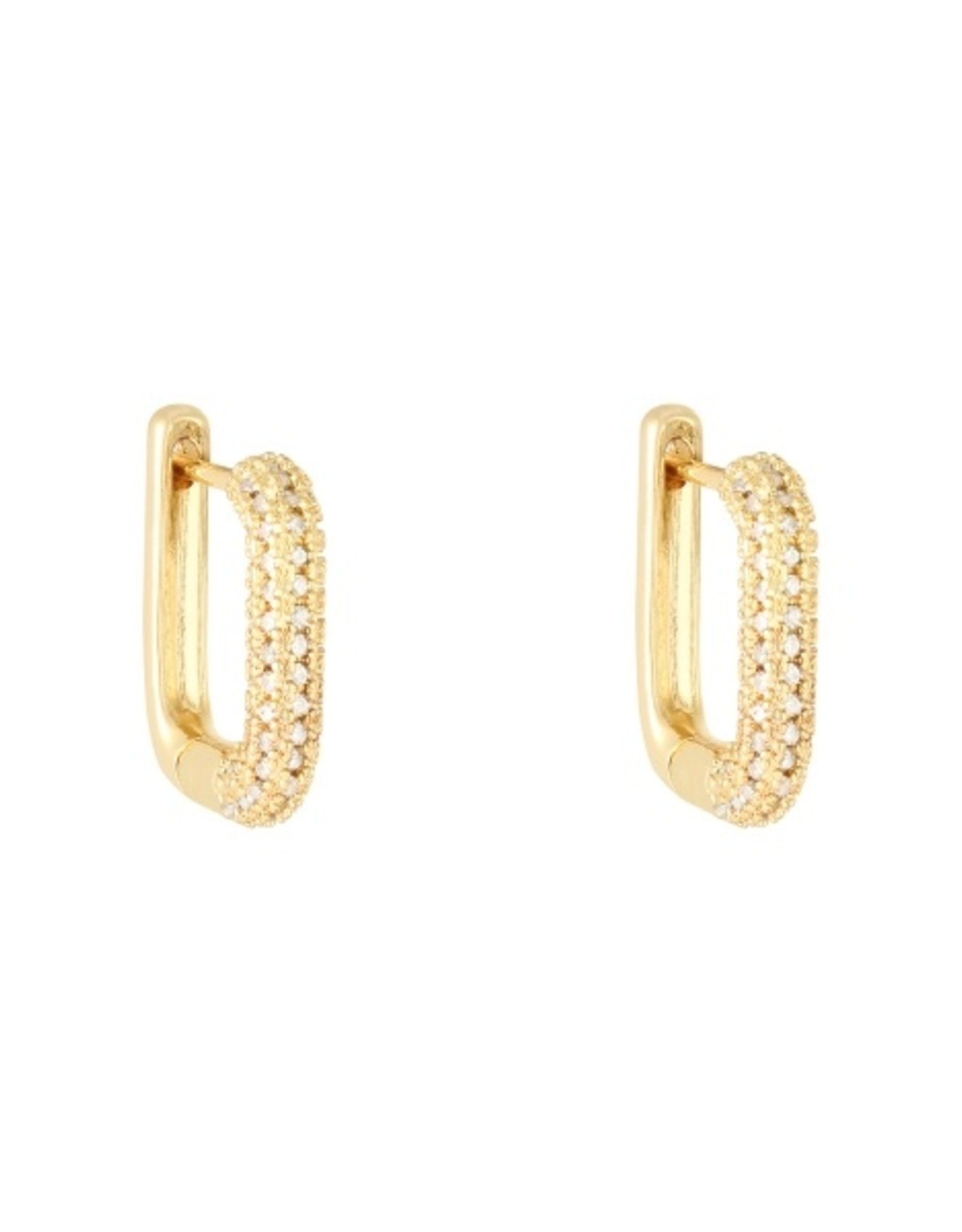 Earrings  diamond rectangle
