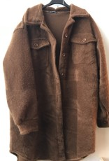 Mantel furry kort roest