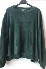 BLR Sweater Luche pluche groen