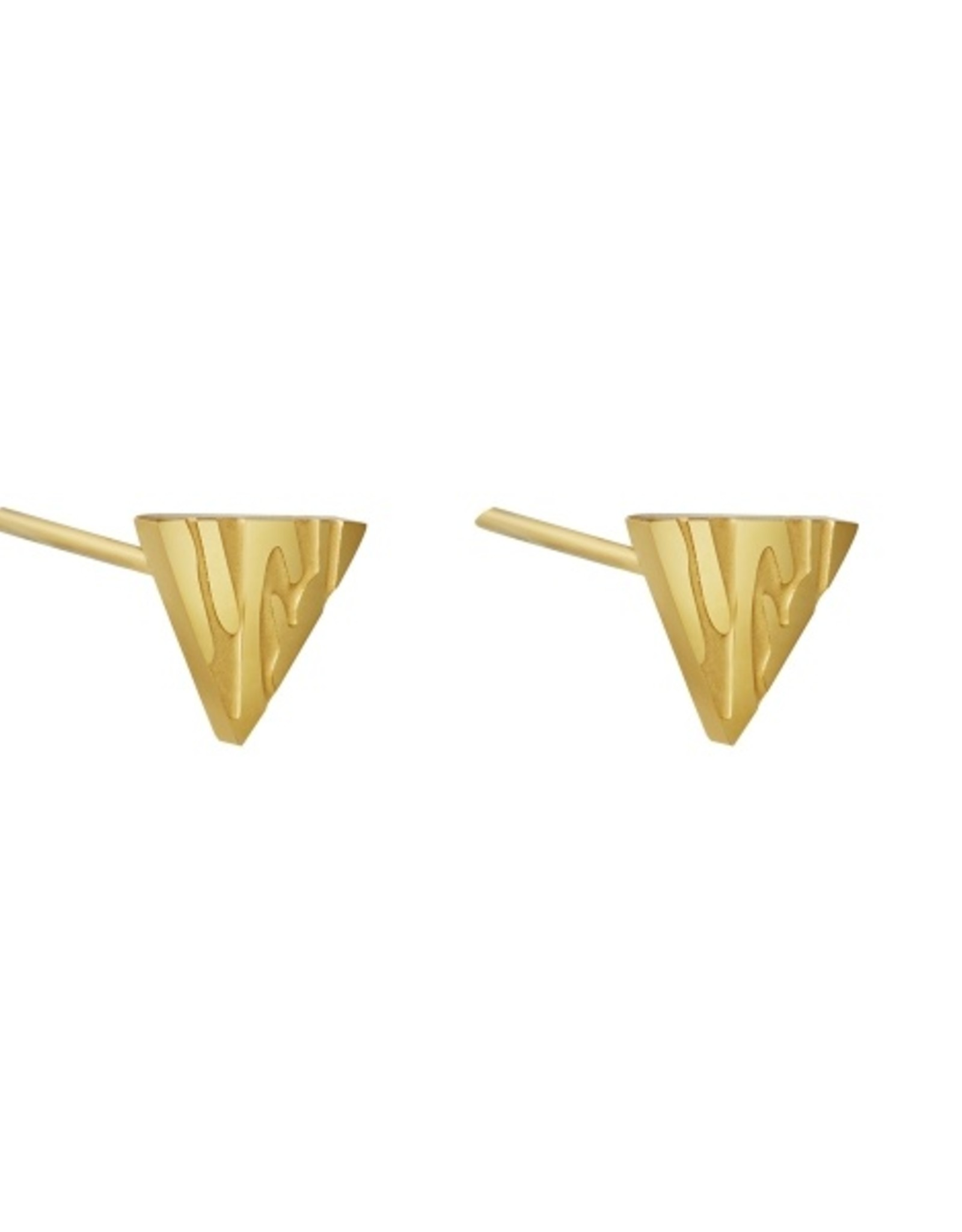 Earrings small animal triangle gold