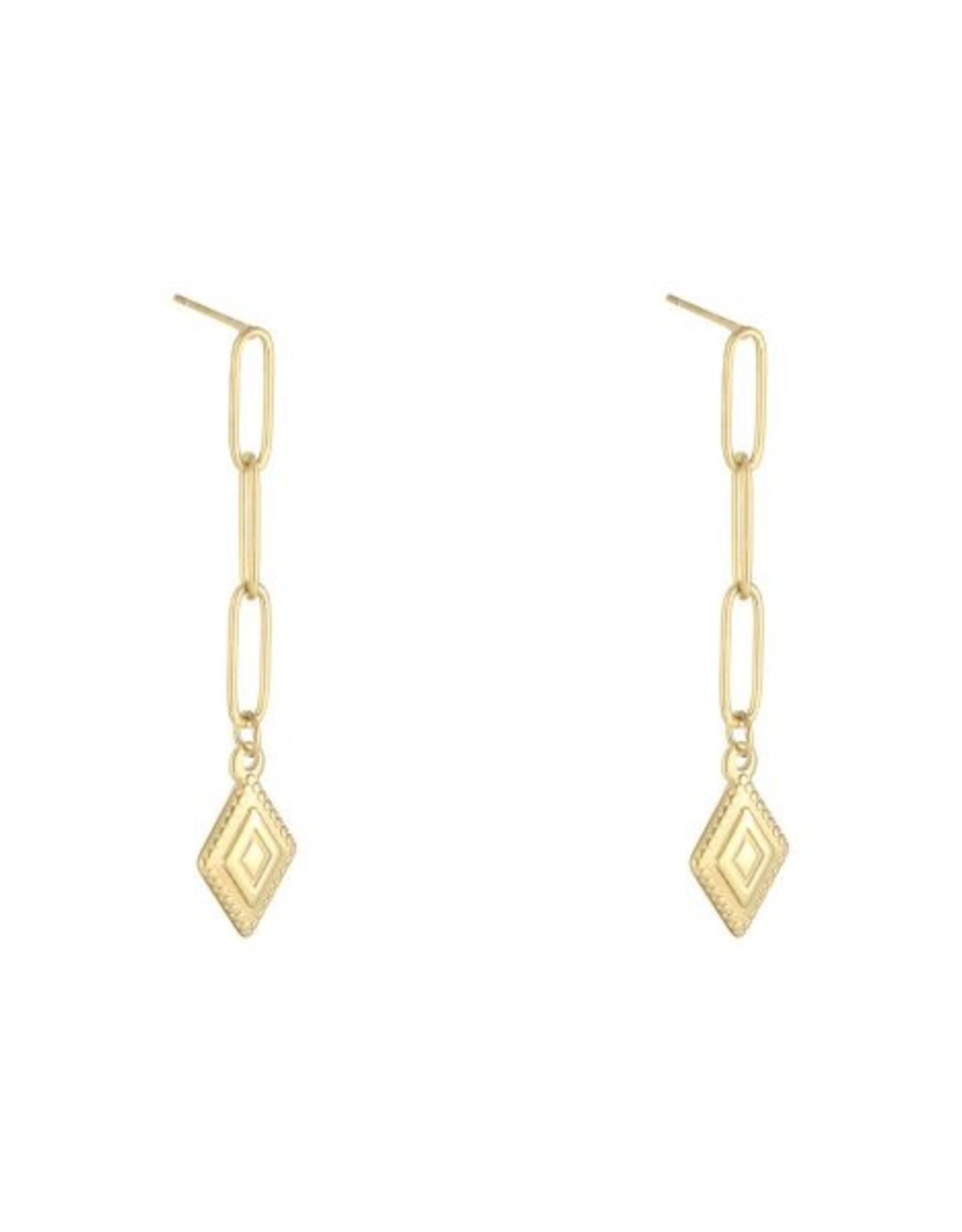 Earrings diamond in the sky