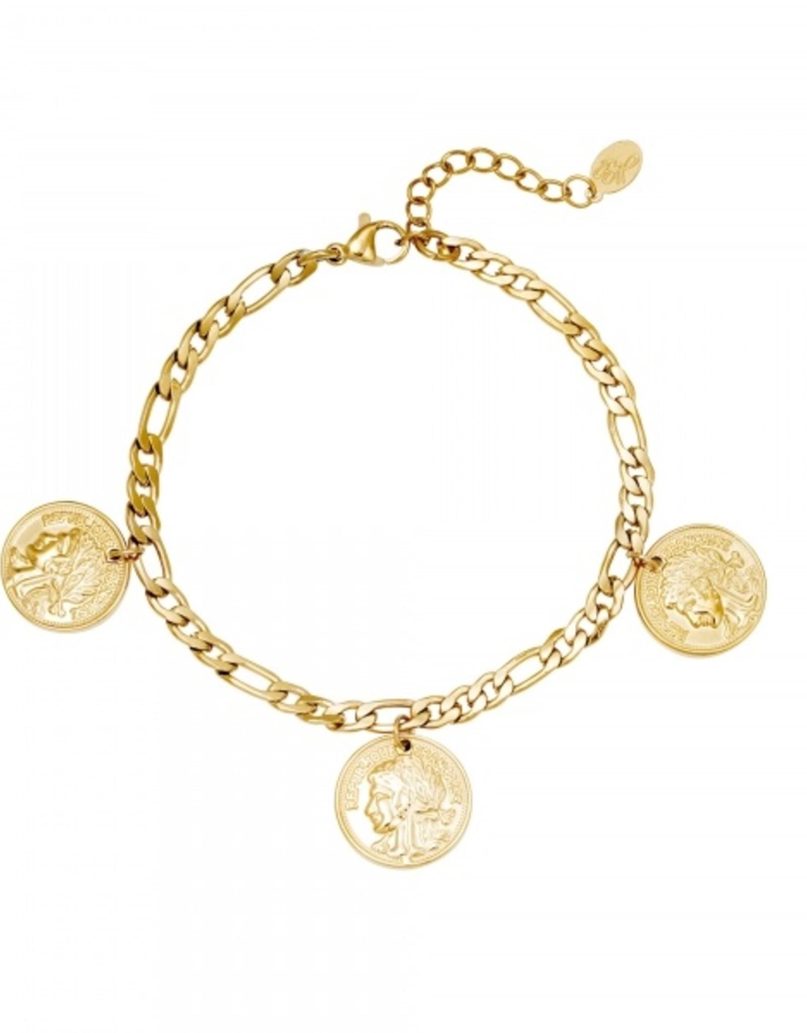 Bracelet ancient coinage gold