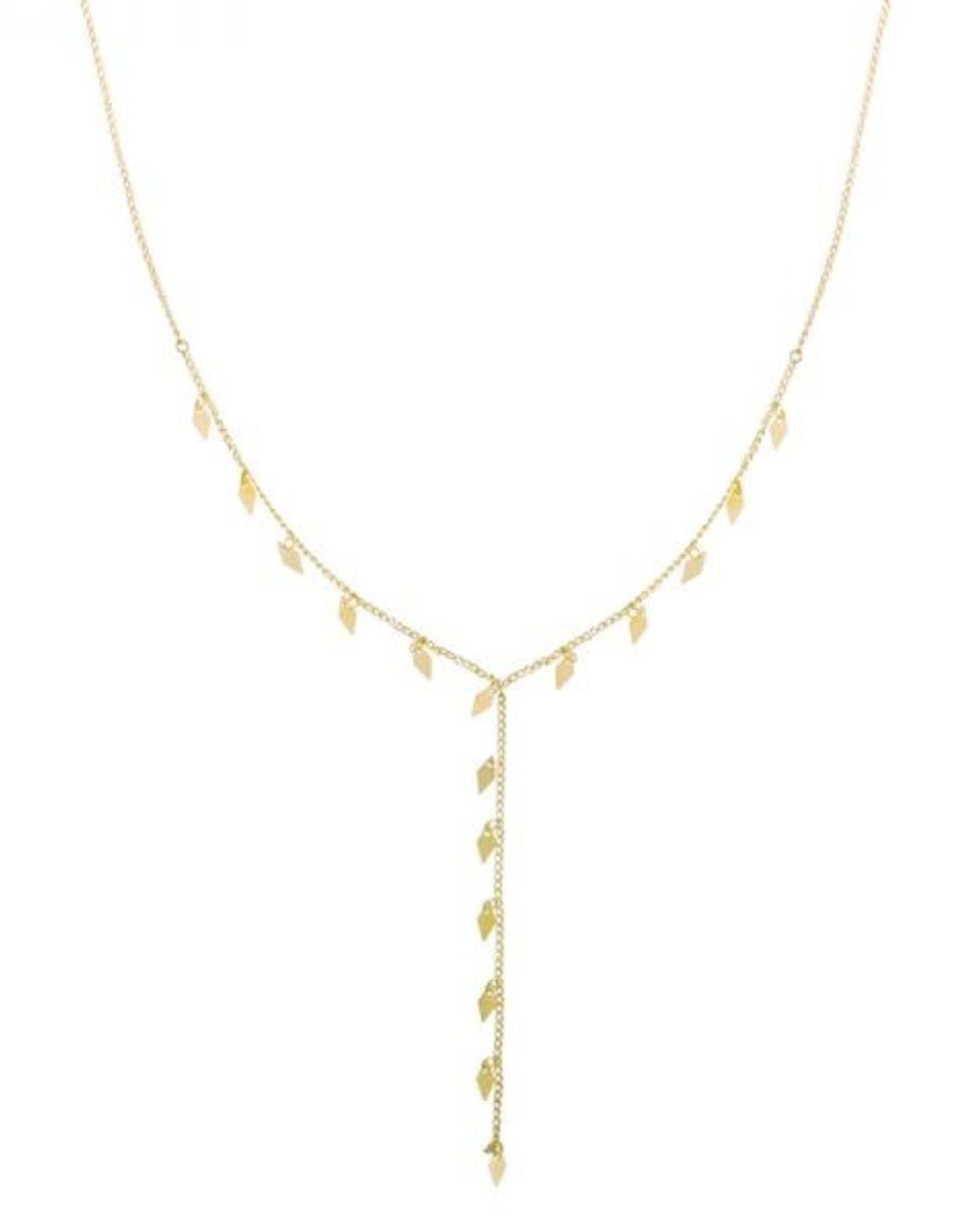 Necklace dancing diamonds