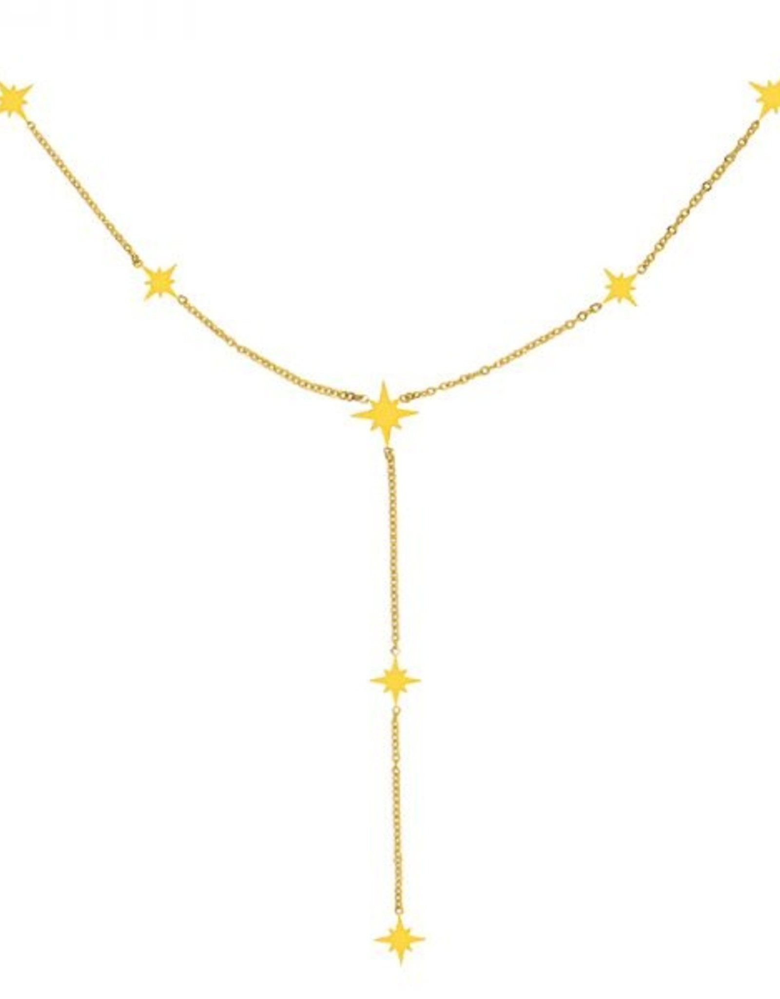Necklace starry gold