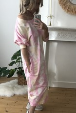 Comfy sweaterdress Tie Dye pink